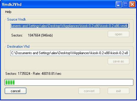 Converting VMware Virtual Appliances for Use with Virtual Iron